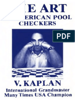 Kaplan the Art of American Pool Checkers 1983