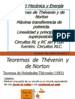 Thevening - Norton. Superposicion, Max Transf de Pot.