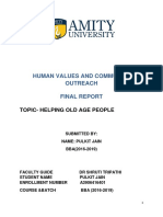 Human Values and Community Outreach Final