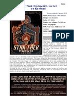 Star Trek Discovery. La luz de Kahless