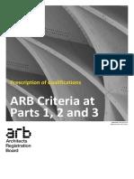 RIBA - ARB Criteria