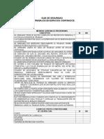 Checklist Trabajos en Espacios Confinados