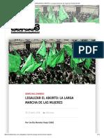 LEGALIZAR EL ABORTO_ La Larga Marcha de Las Mujeres