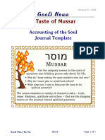 Accounting of the Soul Journal Template