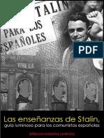 José Díaz, Las enseñanzas de Stalin, guía luminoso para los comunistas españoles, 1940.pdf