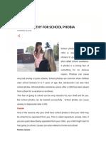 Homoeopathy for School Phobia