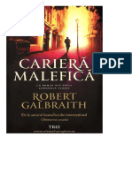 Robert Galbraith - Seria Cormoran Strike 3-Cariera Malefica