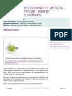 Program Web Et Applications Mobiles