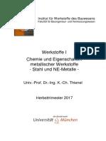 Chemie und Eigenschaften metallischer Werkstoffe