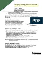 Elements de Solutions Et Corrige Decouverte2018-2019