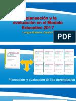 PLANEACIÓN PLANEACION Y EVALUACION 2017