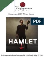 Hamlet Playbill 1.21.2019