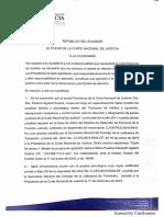 Pronunciamiento Pleno de La CNJ