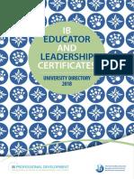Ib University Directory 2018 En