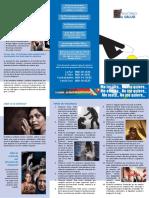 Triptico Campaña Mujeres en Duelo Contra El Feminicidio