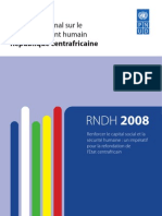 National Human Development Report 2008 - Central African Republic (FRA)