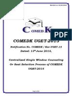 COMEDK 2015stu Guideline