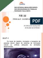 NR 22- ILUMINAÇÃO