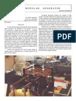 Bruce DePalma - Free Energy - Homopolar Generator