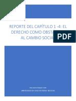 Reporte de El Derecho Como Un Obstaculo Al Cambio Social