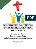 Relación Final - XV Asamblea Ordinaria del Sínodo de los Obispos