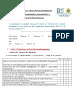 Questionnaire Évaluation (1)