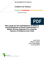 How Large Are the Contributions of Cities to the Development of Rural Communities - Rimisp