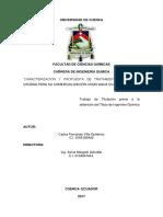 CARACTERIZACIÓN Y PROPUESTA DE TRATAMIENTO DE AGUAS CRUDAS PARA SU COMERCIALIZACIÓN COMO AGUA EMBOTELLADA