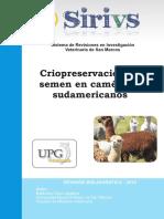 Criopreservación de Semen en Camélidos Sudamericanos