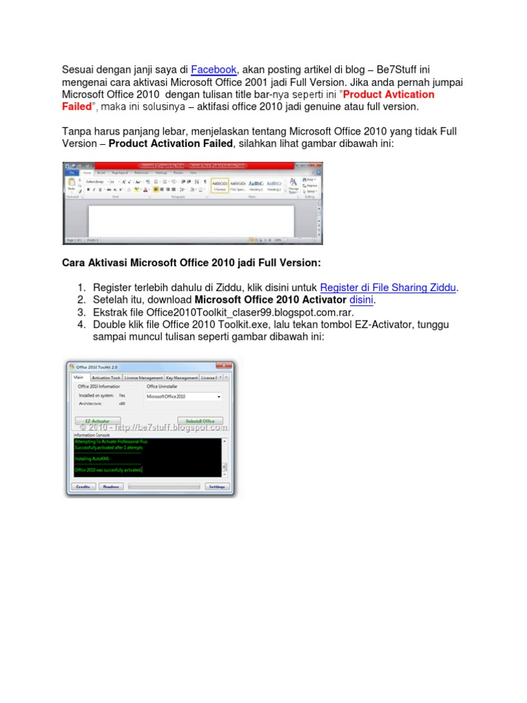microsoft office 2010 toolkit exe download