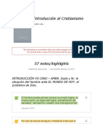"Notes From ""Introducción Al Cristianismo"""