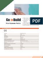 Go-build - ro-gypsum Putty - Technical Datasheet