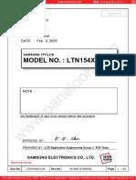Samsung LTN154X3-L03 (LCD Specifications)