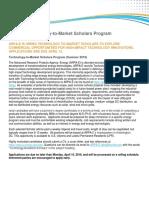 ARPA-E Summer Scholars Posting 121818 Final