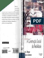 BERGER_LUCKMANN_A Construção Social Da Realidade Tratado Sobre a Sociologia Do Conhecimento