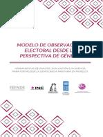 Modelo de Observacion Electoral desde la perspectiva de género