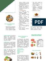 panfleto alimentação saudável