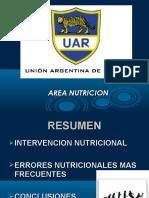 Resumen Intervencion Nutricional Errores Nutricionales Mas Frecuentes Conclusiones