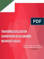 Consultas Frecuentes Transferencia de Gestión