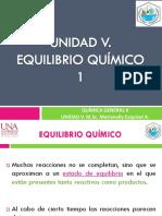 UNIDAD V. EQUILIBRIO QUÍMICO