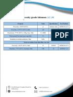 Data Sheet of Viscosity Grade Bitumen Ac 30