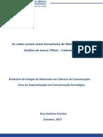 Relatório de Estágio- Ana Arantes