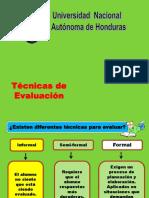 Tecnicas de Evaluacion - Educacion Media