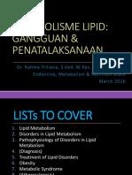 2016_RHM_Blok Endokrin_Metabolisme Lipid, Gangguan & Penatalaksanaannya