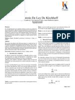 Ley de Kirchhoff