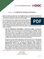 La Organización Transparencia Internacional