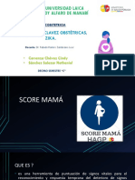 Claves Obstetricas MSP, Score MAMA