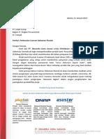 Surat Perkenalan Scanner Plustek PT Indahgroup