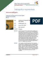Bibliografia-Metodologia de La Programacion
