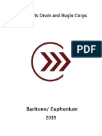2019 Cadets Baritone Euphonium Manual